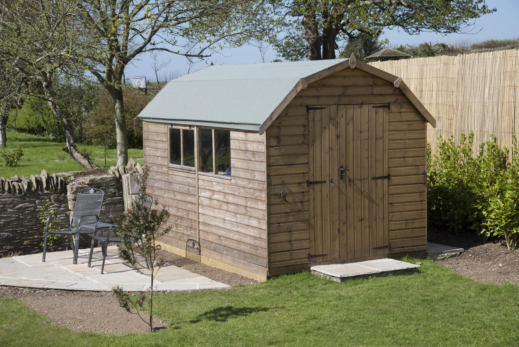 custom wooden shed built by Springfield shed builder