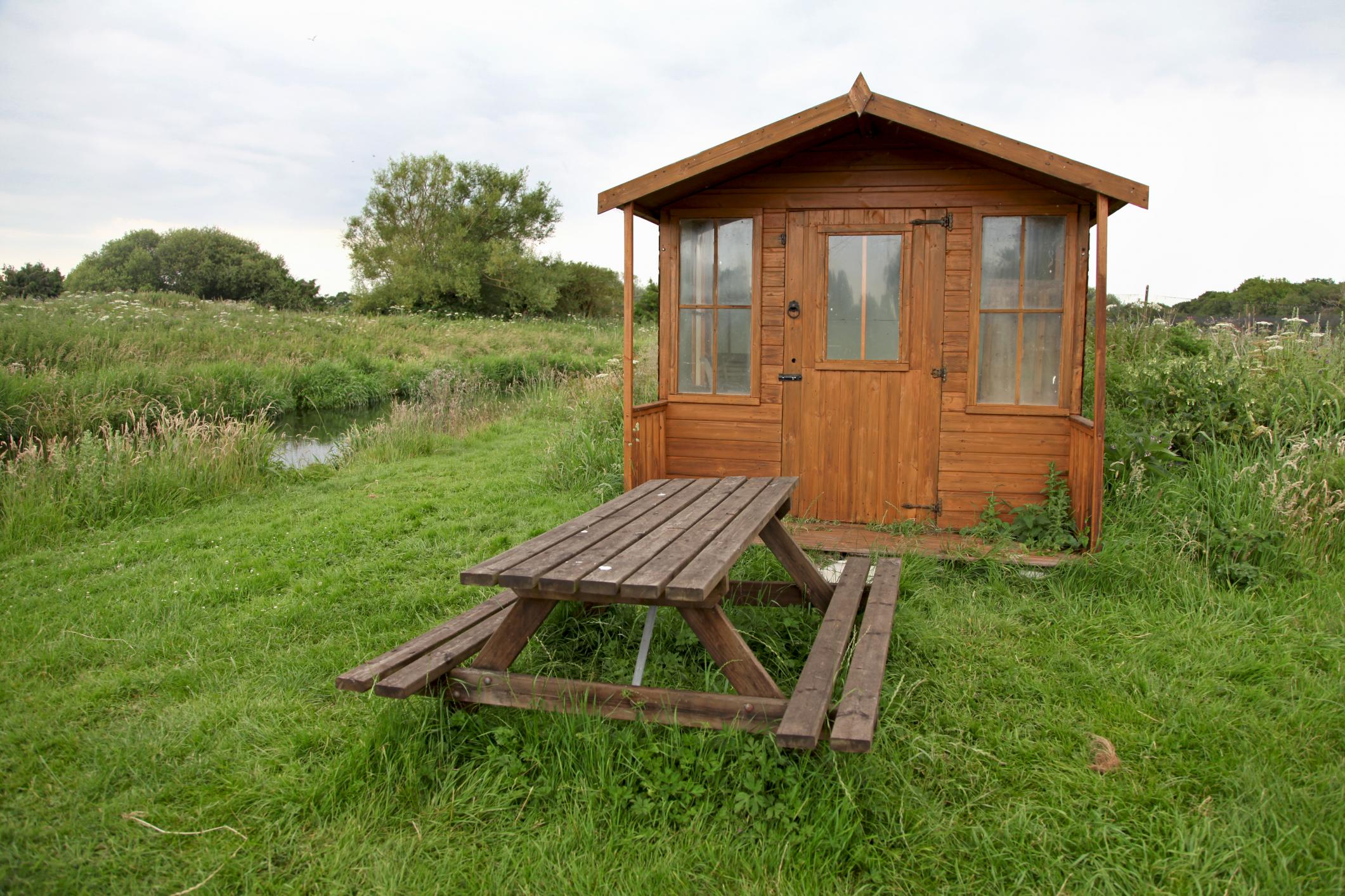 wooden shed built by Springfield shed builder